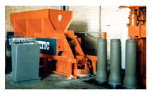 Manufacturer of Cocrete Machine for mass production of small-diameter Concrete Pipes.