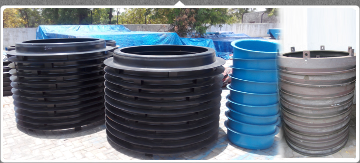 Manufacturer of Concrete Pipe Machines Accessories like Pallets, Set Rings and Headers.