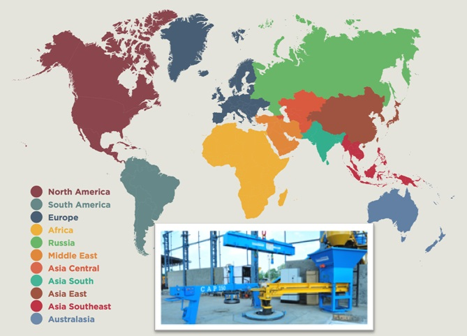 Emerging Markets For Concrete Pipe Machines In Different Continents - Different continents of the world